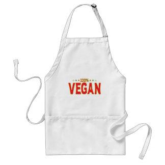 Etiqueta de la estrella del vegano delantales