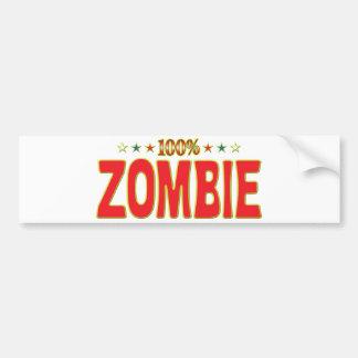 Etiqueta de la estrella del zombi etiqueta de parachoque