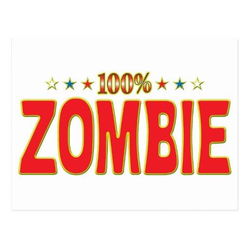 Etiqueta de la estrella del zombi postales