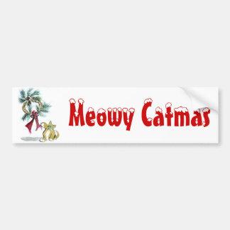 etiqueta de la guirnalda por el gatito pegatina para coche