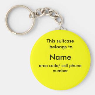 Etiqueta de la identificación de la maleta llavero redondo tipo chapa