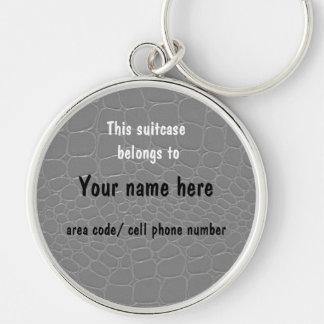 Etiqueta de la identificación del nombre de la mal llavero