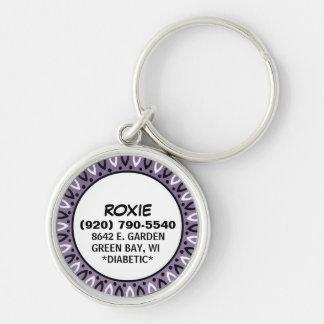 Etiqueta de la identificación del perro - frontera llavero personalizado