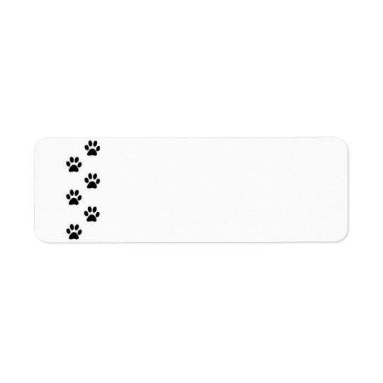 Etiqueta de la impresión de la pata
