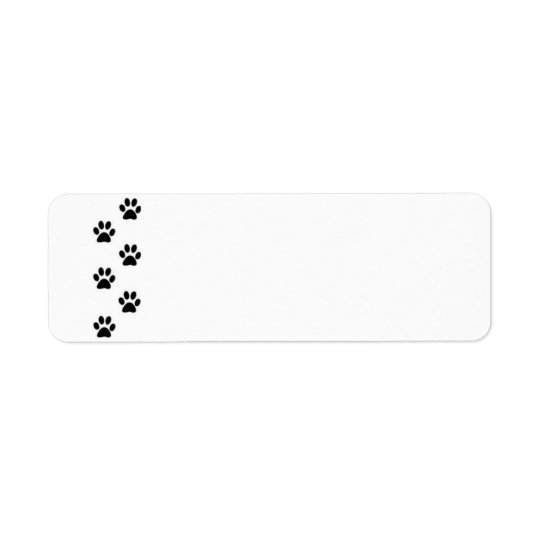 Etiqueta de la impresión de la pata etiqueta de remitente