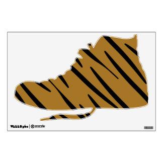 Etiqueta de la pared de la zapato tenis del Hola-T