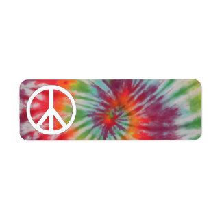 Etiqueta de la paz del teñido anudado etiquetas de remite