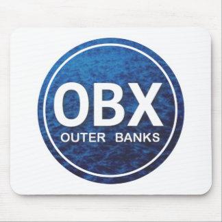 Etiqueta de la playa de OBX Alfombrilla De Ratón