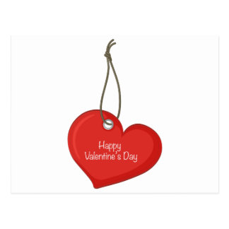 Etiqueta de la tarjeta del día de San Valentín Postal
