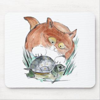 ¡Etiqueta de la tortuga - el gatito dice que usted Alfombrilla De Ratón