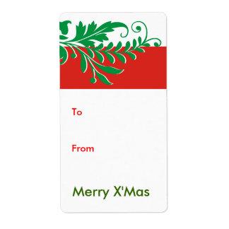 Etiqueta de las etiquetas del regalo del navidad etiquetas de envío