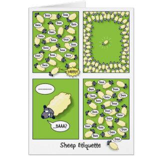 Etiqueta de las ovejas (cumpleaños) tarjeta