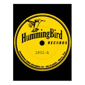 Etiqueta de los expedientes del colibrí tarjetas postales