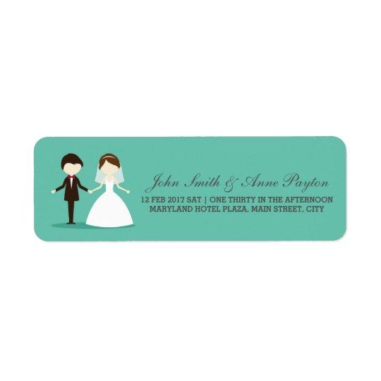 Etiqueta de los pares del boda etiqueta de remitente