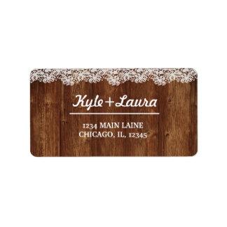 Etiqueta de madera rústica del cordón etiquetas de dirección