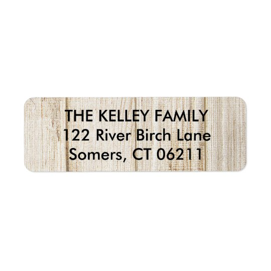 Etiqueta de madera rústica del remite etiqueta de remite