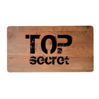 Etiqueta de madera secretísima de Avery del piso Etiqueta De Envío