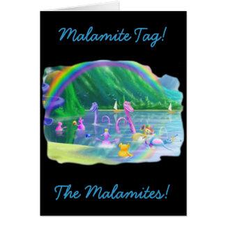 ¡Etiqueta de Malamite Felicitacion