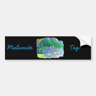 ¡Etiqueta de Malamite! Pegatina De Parachoque