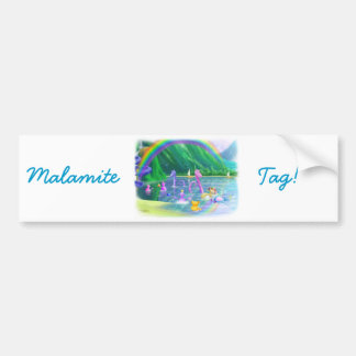 ¡Etiqueta de Malamite! Etiqueta De Parachoque