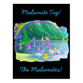 ¡Etiqueta de Malamite Postales