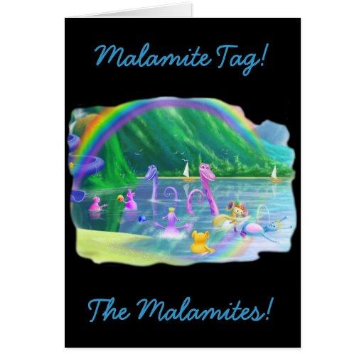 ¡Etiqueta de Malamite! Felicitacion