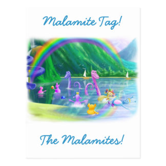 ¡Etiqueta de Malamite! Tarjeta Postal