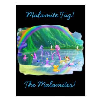 ¡Etiqueta de Malamite! Postal