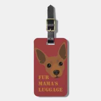 Etiqueta de mano de la maleta del equipaje del Pin