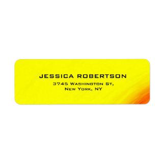 Etiqueta De moda moderno elegante llano legible amarillo