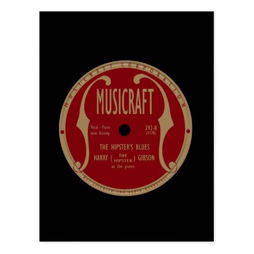 Etiqueta de Musicraft Postal