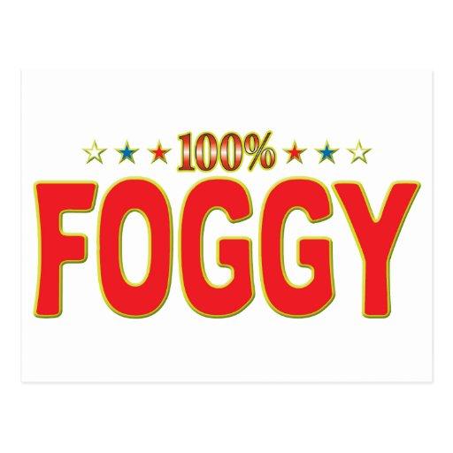 Etiqueta de niebla de la estrella tarjetas postales