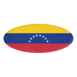 Etiqueta De Nombre Bandera de Venezuela