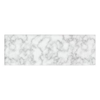 Etiqueta De Nombre Fondo de piedra veteado de mármol del blanco gris