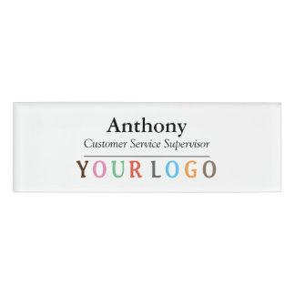 Etiqueta De Nombre Personal de encargo del empleado del logotipo del