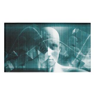 Etiqueta De Nombre Tecnología futurista de la ciencia médica como