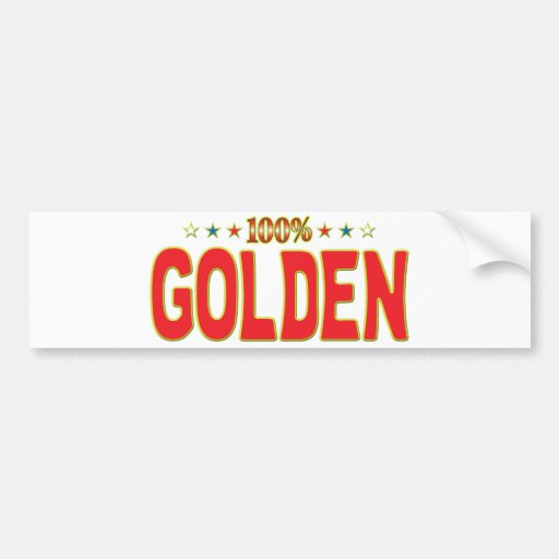 Etiqueta de oro de la estrella pegatina de parachoque