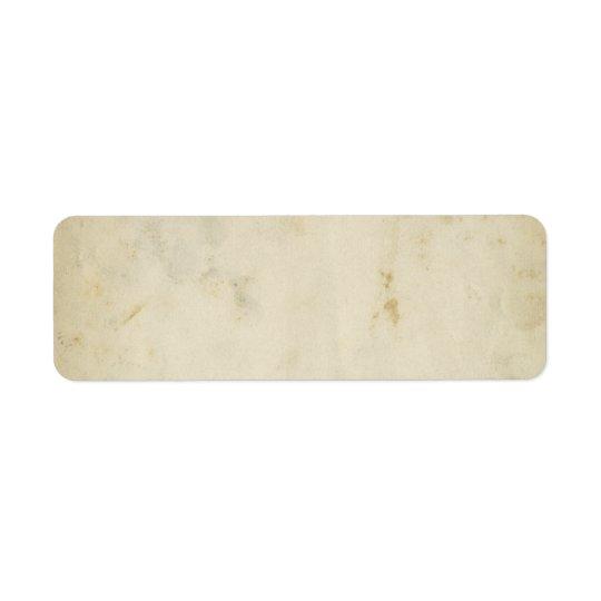 Etiqueta de papel envejecida antigüedad en blanco etiqueta de remitente