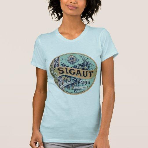 Etiqueta de París del vintage Camisetas
