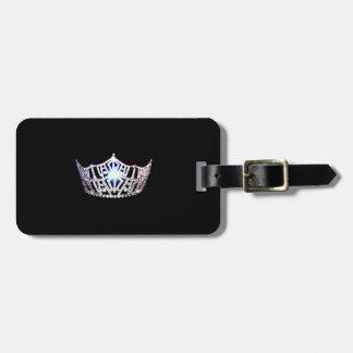 Etiqueta de plata del equipaje de la corona de