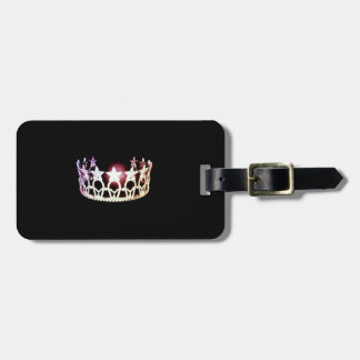 Etiqueta de plata del equipaje de la corona de la