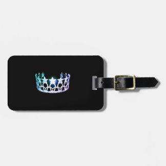 Etiqueta de plata multi del equipaje de la corona