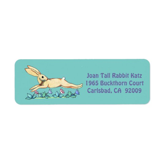 Etiqueta de salto del conejo para Joan Etiquetas De Remite