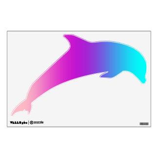 Etiqueta de salto del delfín - rosas, púrpuras,