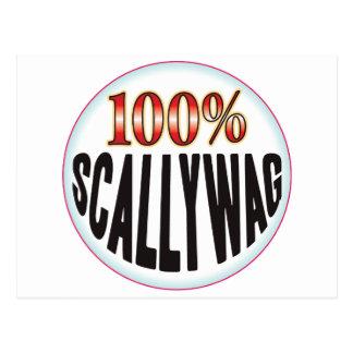 Etiqueta de Scallywag Tarjeta Postal