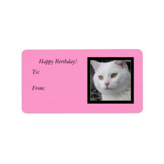 Etiqueta de Sr. Cat Portrait Gift Tag Etiquetas De Dirección
