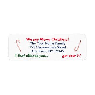 Etiqueta Decimos Felices Navidad