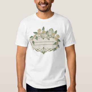 Etiqueta decorativa de la mariposa del estilo del camisas