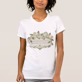Etiqueta decorativa de la mariposa del estilo del camiseta