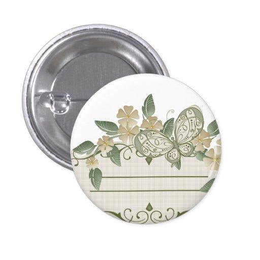 Etiqueta decorativa de la mariposa del estilo del  pin